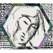 Mixed Media 3- Elements- Face Hexagon 02