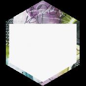 Mixed Media 3- Elements- Hexagon Tag