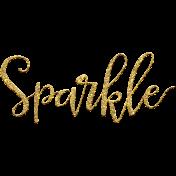 Mixed Media 3- Elements- Word Art- Sparkle