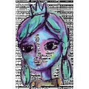 Mixed Media 3 - Stamps - Princess - Color