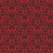 Gothical Papers- Paper 03- Red Damask Skulls