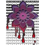 Gothical- Elements- Enamel Drip Flower
