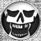Gothical- Elements- Enamel Skull Circle