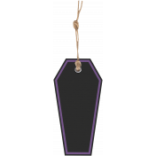 Gothical- Elements- Label Coffin with String