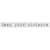 Mixed Media 4- Elements- Word Art- Distance