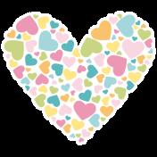 Love You Miss You- Minikit- Heart Sticker
