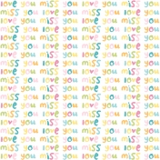 Love You Miss You- Minikit- Love You Miss You Paper