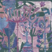 Mixed Media 6 - Papers - Collage Flowers