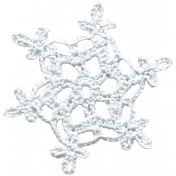 Winter Arabesque- Crocheted Snowflake 1
