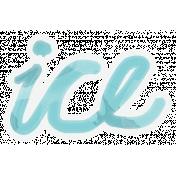 Winter Arabesque- Ice Sticker