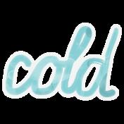 Winter Arabesque- Cold Sticker