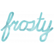 Winter Arabesque- Frosty Word Art