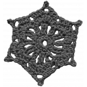 Crocheted Snowflake Template 7
