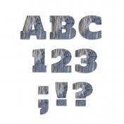 Rustic Charm Alpha Kit- Blue Wooden Alpha