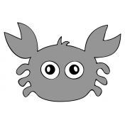 Crab Sticker Template