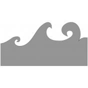 Waves Sticker Template