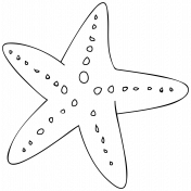 Cartoon Starfish Template
