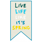 Reflections Mini Kit- Live Life Like Word Art