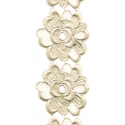 Jane- Cream Embroidered Flower Border