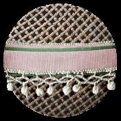 Jane- Fancy Fabric Button