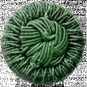 Jane- Green Fabric Button