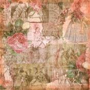 Jane- Vintage Ladies Painted Paper