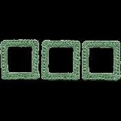 Jane- Green Crochet Triple Frame