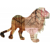 Animal Kingdom- Zoo Collage- Lion