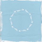 Xy- Painted Paper- Blue Arrow Circle