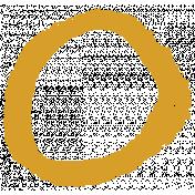XY- Marker Doodle- Mustard Yellow Circle