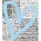 XY- Marker Doodle- Blue Heart 2