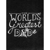 XY- Chalkboard Journal Cards- World's Greatest Dad