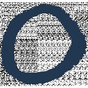 XY- Marker Doodles- Navy Circle