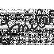 Summer Splash- Word Stamps- Smile