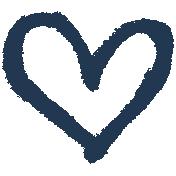 XY- Marker Doodles- Navy Heart 1