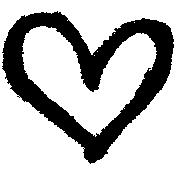 XY- Marker Doodle- Black Heart 1