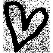 XY- Marker Doodle- Black Heart 2