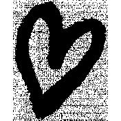 XY- Marker Doodle- Black Heart 3