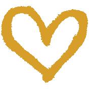 XY- Marker Doodle- Mustard Heart 1