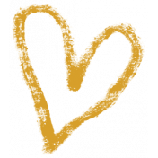 XY- Marker Doodle- Mustard Heart 2