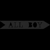 XY- Elements- Word Art- All Boy