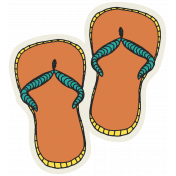 Summer Splash- Stickers- Flipflops