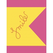 Summer Splash- Journal Card- Smile