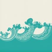 Summer Splash- Papers- Zentangle Waves