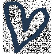 XY- Marker Doodles- Navy Heart 2