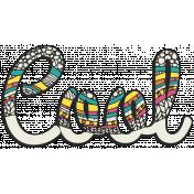 Summer splash- Textured Word Kit- Cool