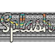 Summer Splash- Textured Word Kit- Splash