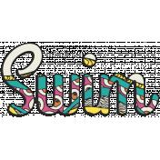 Summer Splash- Textured Word Kit- Swim