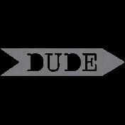 XY- Elements- Word Art Arrow- Dude