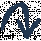 XY- Marker Doodles- Navy Arrow 5